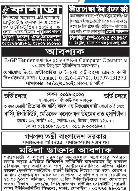 বিভিন্ন চাকরির খবর ২০২০ - all job news bd