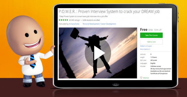 [100% Off] P.O.W.E.R. : Proven Interview System to crack your DREAM job| Worth 150$