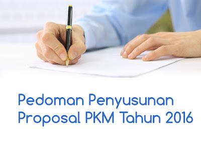 Pedoman Penyusunan Proposal PKM Tahun 2016
