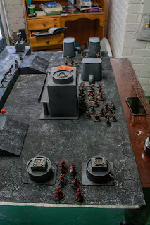 warhammer 40k game battle report with word bearers tyranids and sisters of silence and spacewolves