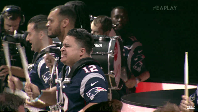 Electronic Arts E3 2017 EAPlay Patriots drumming team Madden NFL