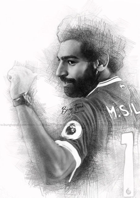 Digital Sketch Mohamed Salah