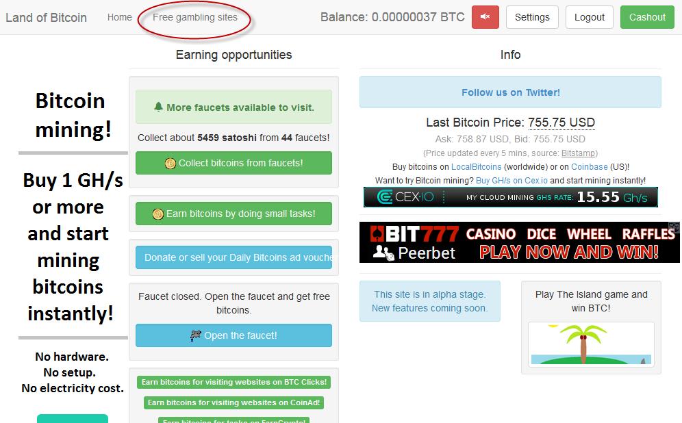 online bitcoin earning websites