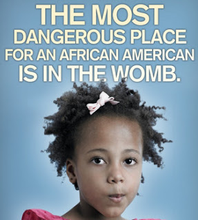 The most dangerous place for an african american is in the womb