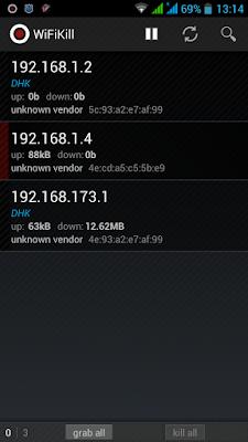 Wifi kill Scan Result of IP Address