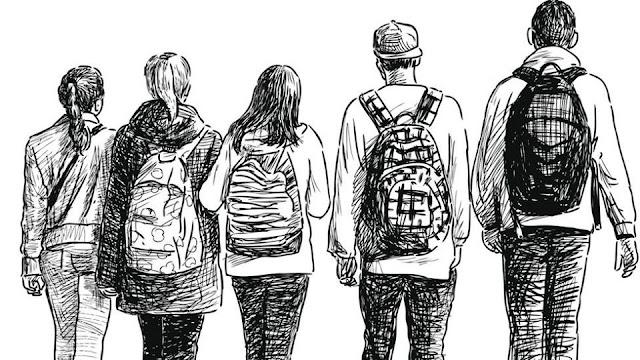 Μιλώντας για τις εξαρτήσεις με τους μαθητές του Γυμνασίου Γαλατά