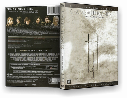 Game of Thrones – 3ª Temporada Completa (2017) 5 DISCOS – AUTORADO