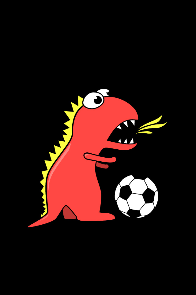 Iphone Wallpapers Girly Quotes My Grinning Mind Funny Cartoon Dinosaur Playing Soccer