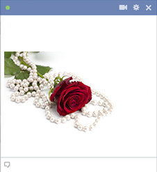 Rose and pearls for Facebook