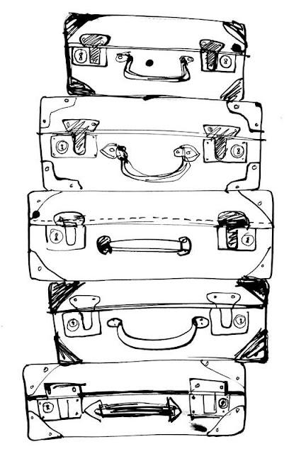 dibujos maletas para colorear