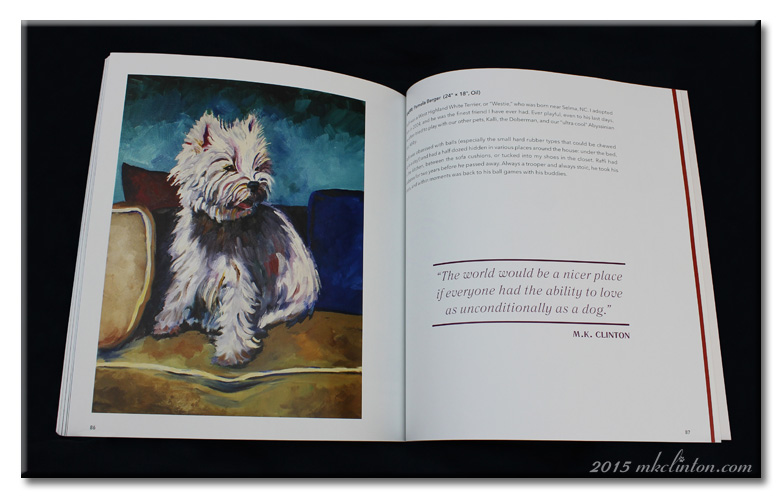 The World Quote with painting of Westie