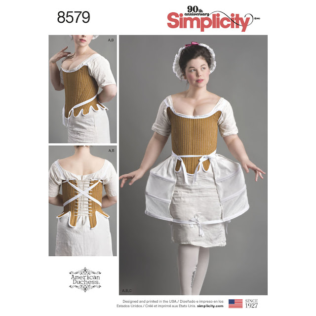 Simplicity 8578 And 8579 Two New 18th Century Patterns American