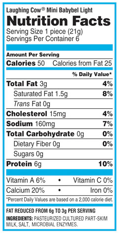 Babybel Light Nutritional Information Www Lightneasy Net