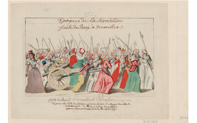 Illustration for the Women's March on Versailles by an unknown artist (1789)