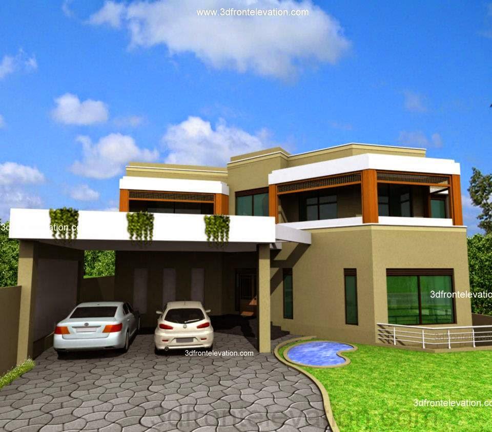 Casatreschic Interior: 5 + 10 Marla House Plan & 3D Front