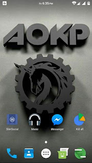 AOKP ROM PORTED TO FLARE X SCREENSHOT 1