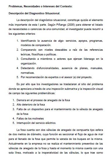 PNF MECANICA IUTPC: Proyecto Socio Integrador