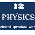 12th PHYSICS SELECTED QUESTIONS AND ANSWER E/M - PDF