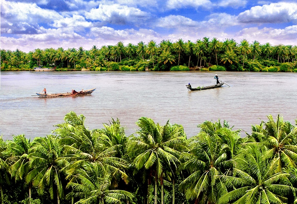 Ben tre coco nut and river, beautiful places in Vietnam through eyes of foreigners, new beautiful places to see in Vietnam
