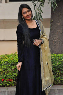 Actress Grace Myrtle Pos in Black Anarkali Dress at Beep Short Film Press Meet  0008.jpg