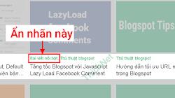 Không cho hiển thị một nhãn cụ thể phía dưới bài viết Blogger/ Blogspot