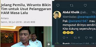 Berita Terhangat Wiranto Bikin Tim Untuk Usut Pelanggaran Ham Kala Lalu, Netizen : Mau Menyidik Dirinya Sendiri.. Kita Dukung Sepenuhnya.. 😂😂😂