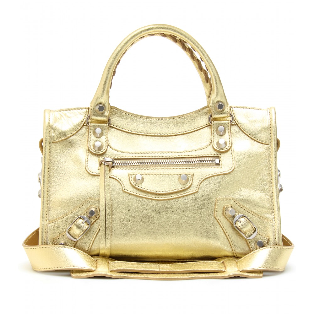 3985f22e02ea Balenciaga Classic Metallic Edge Mini City Bag (gold Silver)