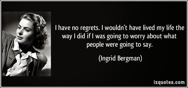 Resultado de imagem para ingrid bergman, frases