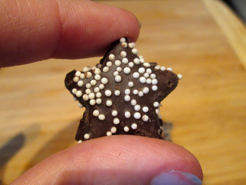 Trader Joe's Dark Chocolate Mint Stars