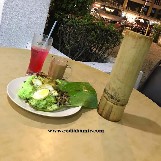 Nasi lemak Bamboo