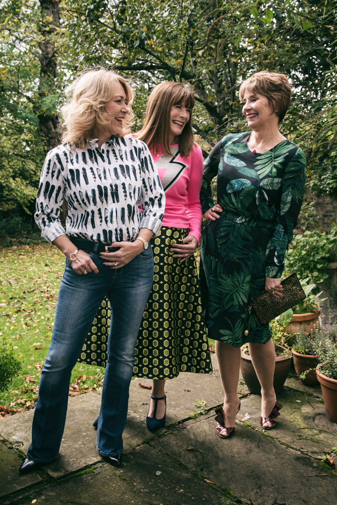 Image showing three over 40 fashion bloggers in clothes by The Bias Cut dot com
