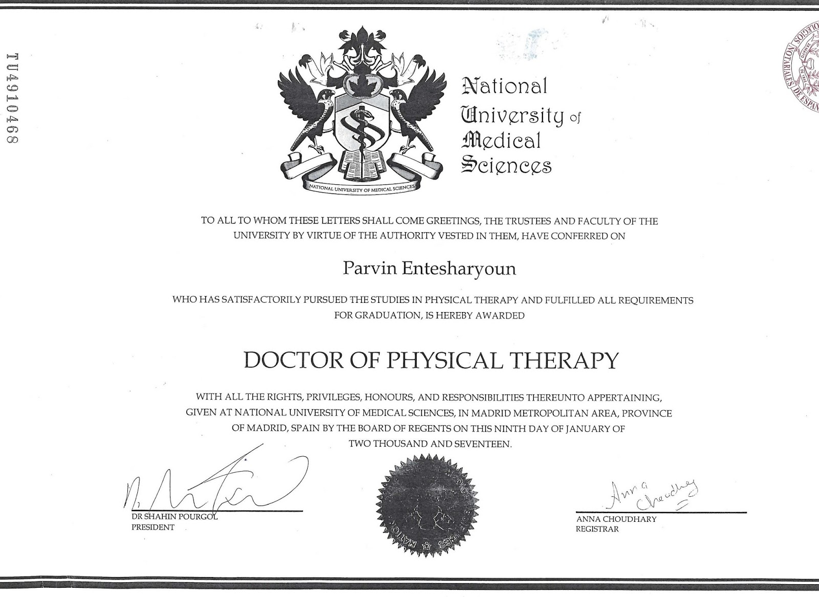 Canadian board of physical therapy -  And Do Doctor Of Osteopathy Degrees Are Now Legalized In Spain Officially And Embassies Of Most Countries Now Accept Them Including Canadian Embassy