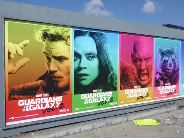 Guardians of the Galaxy 2 street posters