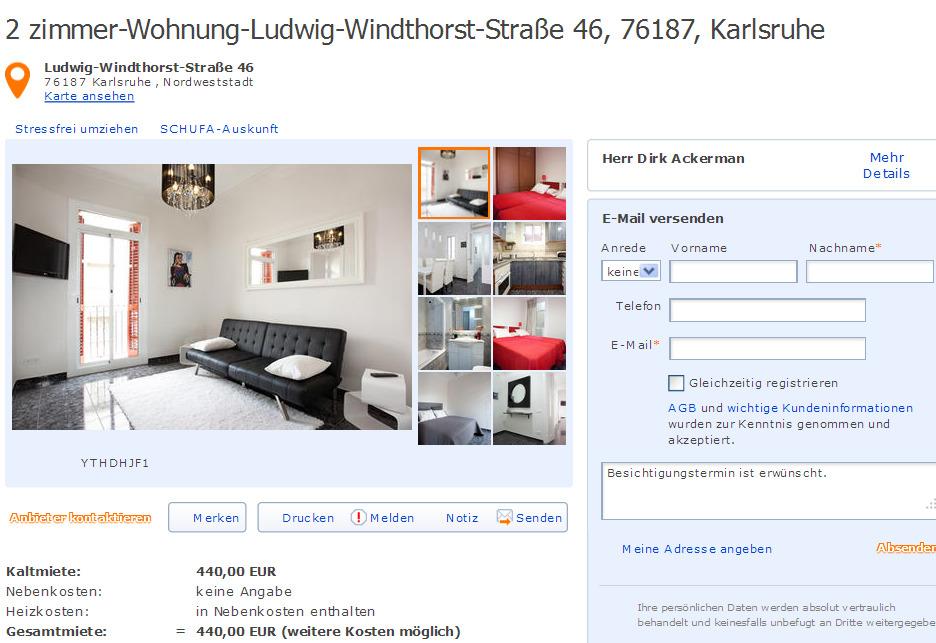 Zimmer Wohnung Karlsruhe Nordstadt