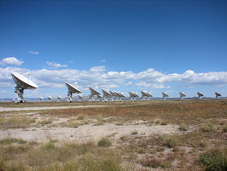 One configuration of radio antennas at the Very Large Array (VLA) (Source: www.nrao.edu)