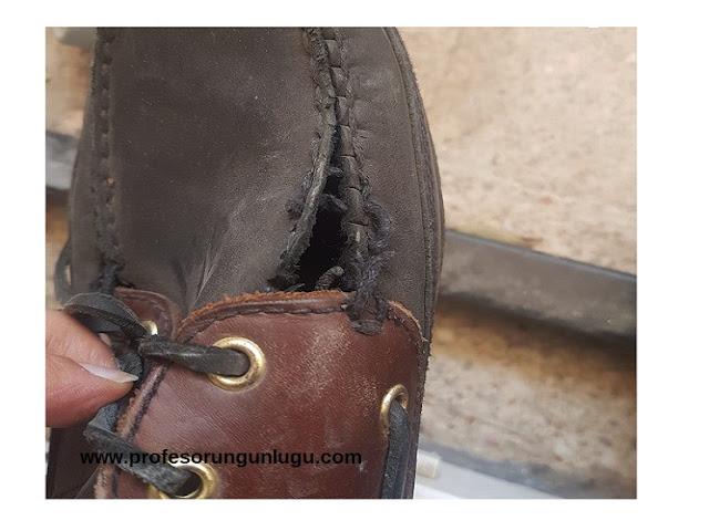 dexter ayakkabi yırtıldı