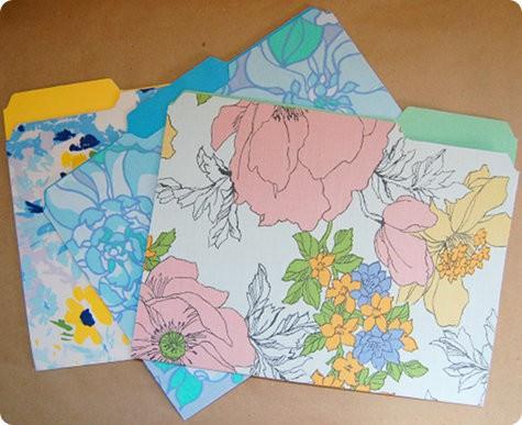 Things to sew - vintage sheet file folders