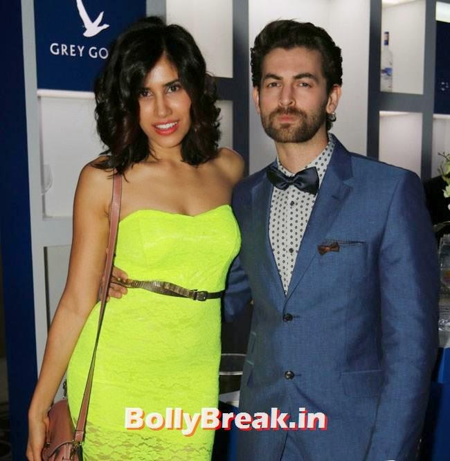 Neil Nitin Mukesh with a friend, Evelyn, Kim, Nargis Sizzle at GQ Best Dressed Men 2014 Awards