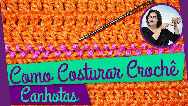 Edinir Croche ensina crochê para canhotos como costurar do jeito certo