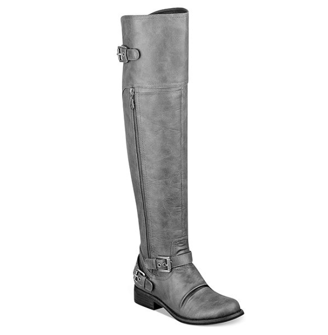 THE APPRECIATION OF BOOTED NEWS WOMEN BLOG : grey leather boots