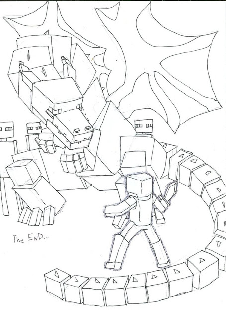Ender Dragon Coloring Pages  Google Search