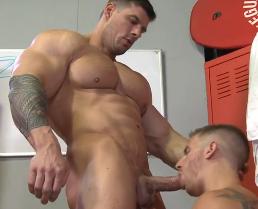 Gay porn muscle domination