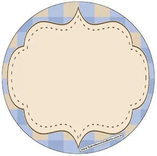 Estrellas Beige y Azul: Wrappers y Toppers para Cupcakes para Imprimir Gratis.
