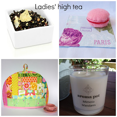 image high tea gift ideas chocolate coconut tea patchwork tea cosy fabric reusable cocktail napkins scented candle domum vindemia