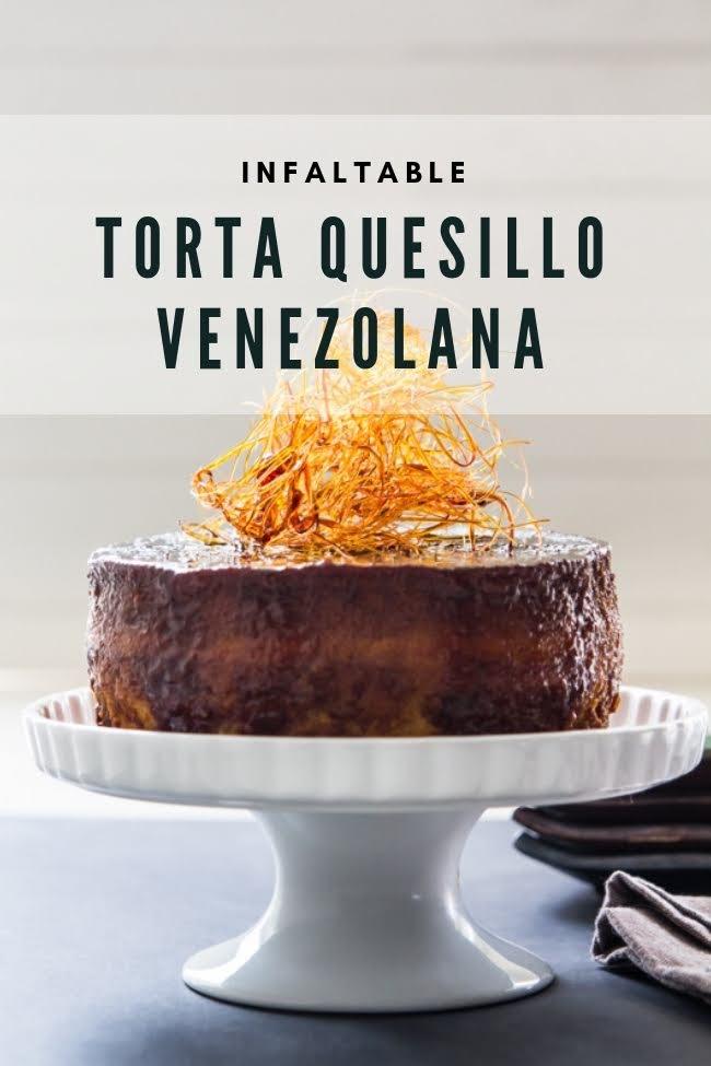 La preferida de todos: la torta quesillo venezolana que asombra a todos por igual y es que nada puede superar lo untuoso del quesillo con el bizcocho tierno de la torta. Un postre inolvidable que dejará a todos complacidos. Receta de www.elgatogoloso.com