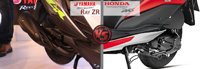 Yamaha Cygnus Ray ZR VS Honda Dio Engine and power