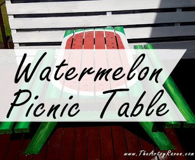 Watermelon Picnic Table by TheArtsyRaven