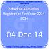Schedule Admission Registration First Year 2014-2016