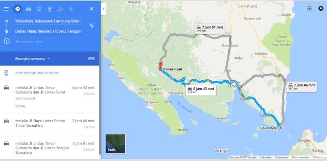 lokasi menuju Danau Hijau Tanggamus lampung