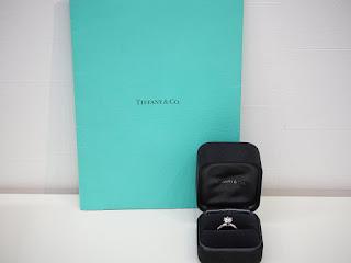 ティファニーのダイヤモンド立て爪リングを買い取り致しました